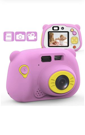 Mansso Kids Camera 1080P HD Digital Camera for Kids with 2 Inch IPS Screen and 16GB SD Card,Mini Rechargeable and Shockproof Camera Creative DIY Camc for Sale in La Puente, CA