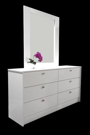 NEW, 6 drawer dresser with mirror. Available in white, black or cappuccino $200 - less without mirror. for Sale in Miramar, FL