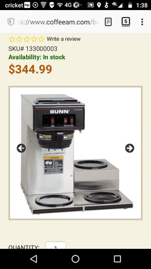 BUNN Pour Over Commercial Coffee Brewer for Sale in Lubbock, TX