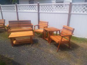 Outdoor cedar patio furniture for Sale in Portland, OR