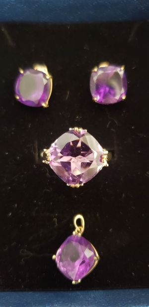 10 k and 14 k amethyst set for Sale in San Jose, CA