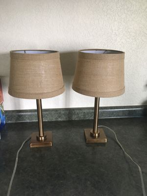 Brass colored bedroom lamps for Sale in Pembroke Pines, FL