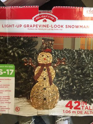 "42"" lighted snowman christmas yard decoration for Sale in West Palm Beach, FL"