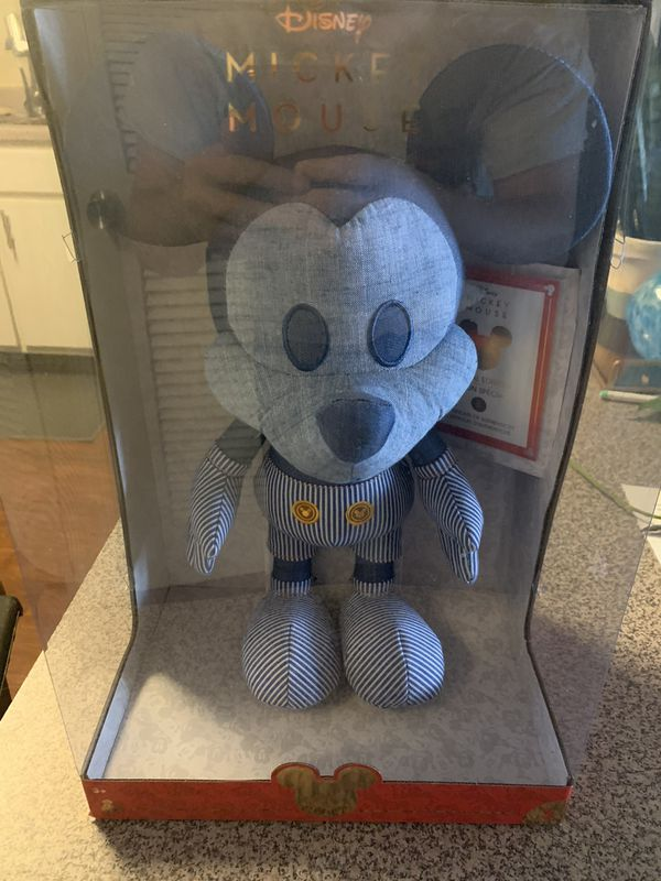 Disney Year of The Mouse Collector Plush - Train Conductor Mickey Mouse, Multicolor, 16 inches