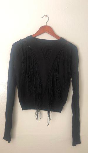 Black fringe sweater for Sale in Modesto, CA