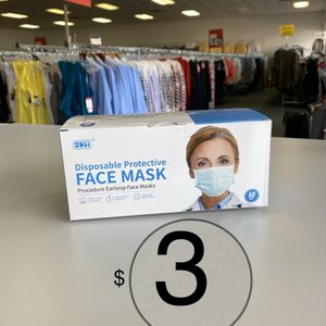 Face Mask 50pcs For $3 for Sale in Houston, TX