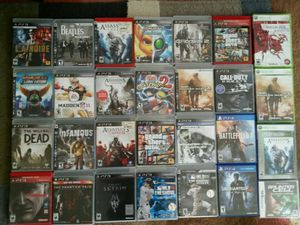 PS3 XBOX 360 DS GAMES BLU RAYS DVDS for Sale in Los Angeles, CA
