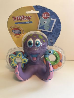 Nuby Bathtime Fun Octopus Hoopla, Purple Bath Toy Preschool Baby Kid Child Pool for Sale in Virginia Beach, VA