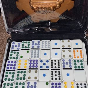 Mexican Train Dominoes Game in Aluminum Carry Case for Sale in Fairfax, VA