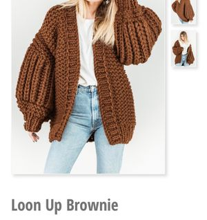 Mums handmade loon up brownie knit cardigan for Sale in Falls Church, VA
