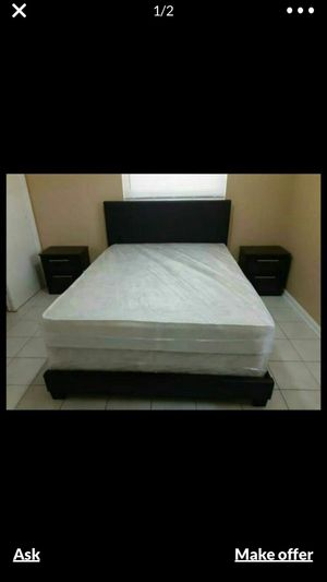 Bed matress box and 2 night stands . Brand new for Sale in Miramar, FL