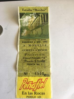 Estadio morelos partido morelia vs correcaminos 1992 for Sale in Pomona, CA