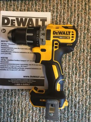 """DeWalt. 20V MAX XR Lithium Ion 2-Speed Brushless 1/2"""" Compact Drill Driver (Tool Only). DCD791B. for Sale in Brooklyn, NY"""