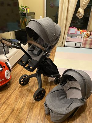 Stokke Xplory Stroller with carrycot bassinet and umbrella for Sale in Pasadena, CA