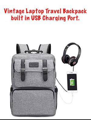 Vintage Laptop Travel Backpack Built in USB Plug for Sale in Chicago, IL