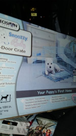 Snoozzy baby 2 door dog. Crate for Sale in Indianapolis, IN