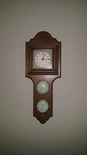Bulava antique wall clock with barometer and thermometer for Sale in Sanford, NC