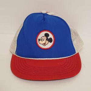 Vintage Mickey Mouse Walt Disney Production Baseball Cap Hat Patch Snapback USA for Sale in La Grange Park, IL