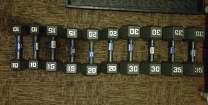 dumbbells, plate and handle for Sale in Revere, MA