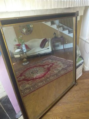 Large antique black and gold mirror FREE DELIVERY for Sale in Atlanta, GA