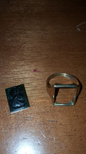 Solid 10k Gold Roman Intaglio Soldier Ring 4.1 Grams for Sale in Pinellas Park, FL