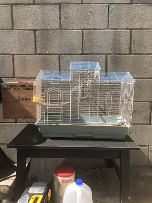Bird cage with nest box for Sale in Los Angeles, CA