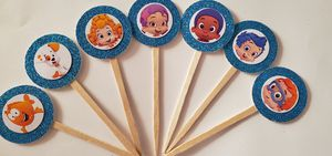 24 bubble guppies cupcake toppers birthday party supplies kids for Sale in New York, NY