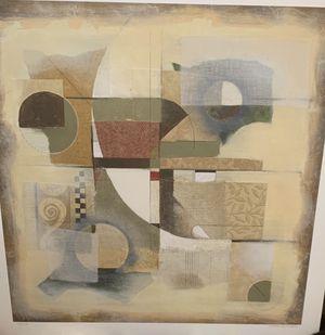 Signed Niro Vasali abstract canvas for Sale in Auburn, WA