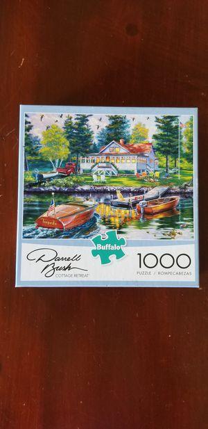 Buffalo Games Darrell Bush Cottage Retreat 1000 piece puzzle for Sale in VLG WELLINGTN, FL