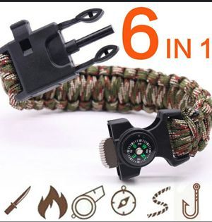 Survival bracelet with compass,fishing líne and hook for Sale in Everett, MA