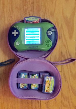 Leapfrog Leapster with case, 6 games and AC cable for Sale in Tampa, FL
