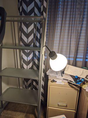 Slightly used 4 shelf unit, chrome and smoke glass shelves for Sale in Henderson, NV