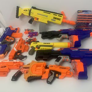 Lot of NERF Blasters Guns Infinus Fortnite Stryfe Hyperfire Elite Negotiator for Sale in Opa-locka, FL