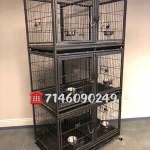 Triple Stackable Dog Pet Cage Kennel Size 43 With Divider And Feeding Bowls New In Box 📦 for Sale in Ontario, CA