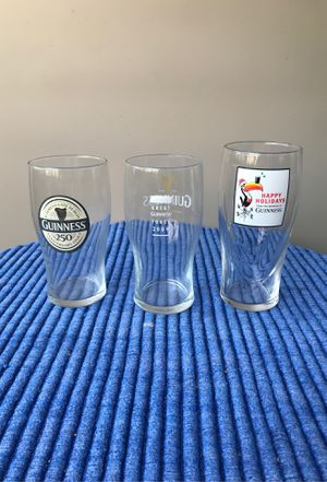 Collectible Guinness glasses for Sale in Richardson, TX