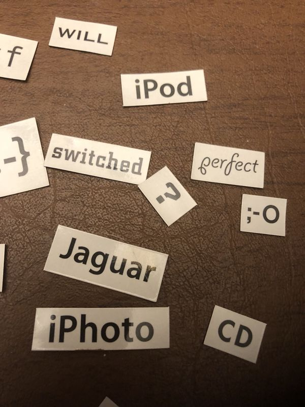 Original Apple Magnetic Poetry Set
