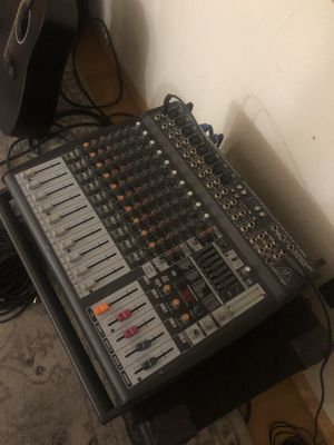 PA system with 2 large speakers and 2 microphones. for Sale in Los Angeles, CA