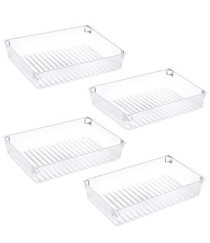 Kootek 4 Pack Large Size Desk Drawer Organizer Tray Rectangle Plastic Bathroom Organizers Kitchen Utensils Silverware Gadgets Trays Dividers Bins for for Sale in Los Angeles, CA