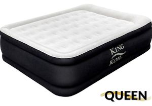 King Koil Queen Air Mattress with Built-in Pump - Best Inflatable Airbed Queen Size - Elevated Raised Air Mattress Quilt Top for Sale in Diamond Bar, CA