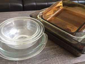8 Piece Glass Pyrex Baking Dishes-Pans for Sale in Lake Worth, FL
