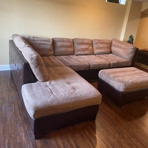 Sectional Couch And Ottoman for Sale in Leesburg, VA