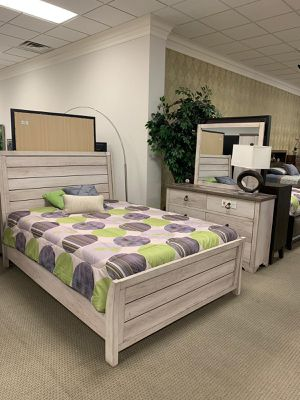 💥SAME DAY DELIVERY🚚Brand New Driftwood Gray Sleigh Bedroom Set / Queen, King./ Bed Frame, Dresser, Mirror, Nightstand 💭 for Sale in Houston, TX