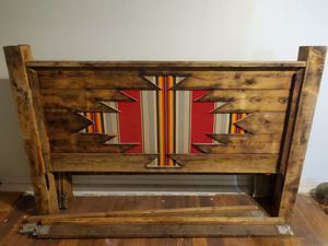 Hand made king size pendleton inlayed bed for Sale in Pawhuska, OK