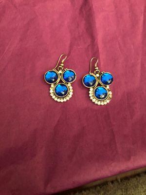 Blue stone earrings for Sale in Kensington, MD