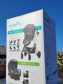 Evenflo Pivot Travel System With Safemax Car Seat for Sale in Highland,  CA