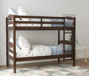 Better Homes & Gardens Leighton Wood Twin-Over-Twin Bunk Bed, mocha for Sale in Las Vegas, NV