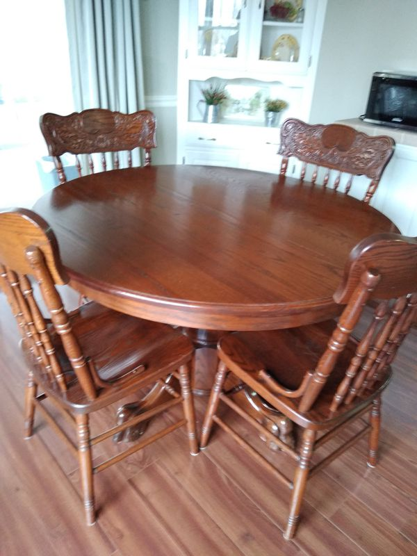 Amish Solid Oak Table
