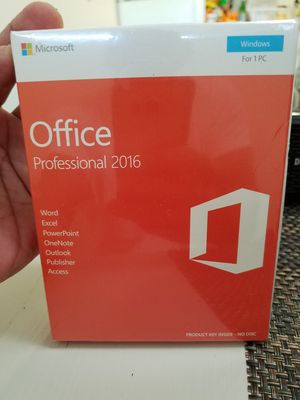 Office professional 2016 for 1 pc for Sale in Napa, CA
