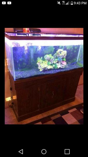 55 gal Fish tank with led light. Located in madill ok 225 for Sale in Madill, OK
