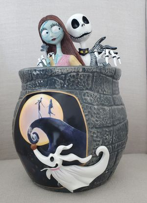 The Nightmare Before Christmas Sally & Jack Skellington with Zero Cookie Jar Collectible statue! for Sale in Anaheim, CA